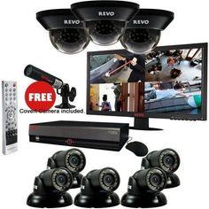 Surveillance System Bundle -16 Ch 3TB DVR, 8 700TVL 100ft Night Vision Security #RevoAmerica