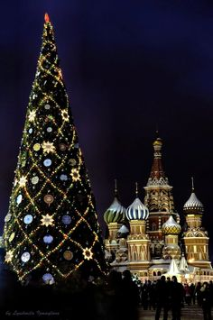 Christmas Tree on the Red Square, Moscow