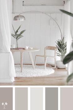 Neutral Color Palette Inspiration Neutral Color Palette Inspiration A neutral color palette inspiration for the home House Color Palettes, House Color Schemes, House Colors, Colour Schemes, Color Combinations, Colour Pallete, Neutral Colour Palette, Interior Paint Colors, Paint Colors For Home