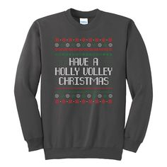 Worldwide Sport Supply Holly Volley Ugly Christmas Sweater