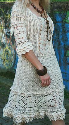 Crochet Dresses, Crochet Clothes, Crochet Lace, Vanessa Montoro, Beautiful Crochet, Crochet Projects, Macrame, Cool Hairstyles, Knitting