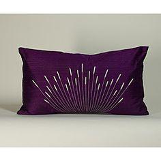 'Branches' Purple 12x20-inch Decorative Pillow    $44.49