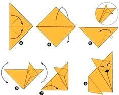 Лиса оригами - Сайт для мам малышей