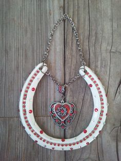 Decorated Horseshoe Horseshoe Decor Shabby by EECustomHorseShoes, $26.99
