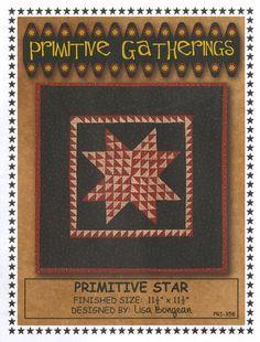 Primitive Star- Mini pattern- Primitive Gatherings #supplies @EtsyMktgTool http://etsy.me/2rJkXoF #friendly #block #charm #wool #applique