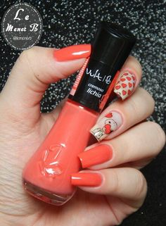 #nails #nail #fashion #style #lichia #cute #beauty #beautiful #snoop #pretty #girl #girls #stylish #sparkles #styles #gliter #nailart #art #opi #esmalte #essie #unhas #preto #branco #rosa #love #shiny #polish #nailpolish #unhas