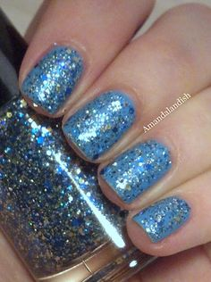 Shimmer Polish Adrienne over Revlon Coastal Surf.