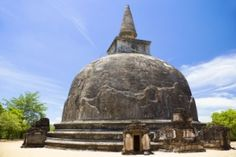 UNESCO's World Heritage Site of Kiri Vehera, located at Polonnaruwa, Sri Lanka. The work of Queen Subhadra, one of the consorts of ...
