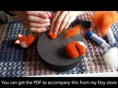 Needle Felting Animals - Felt Fox Tutorial for Beginners / Intermediate by Apulina - YouTube