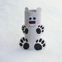Precious Polar Bear Paper Roll Craft | AllFreeKidsCrafts.com