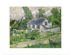 Houses at Auvers, c.1890 Art Print by Vincent van Gogh at Art.com