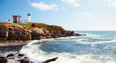 """Maine's Cape Neddick, with its distinctive """"Nubble"""" lighthouse, is one of New England's spectacular """"other"""" capes that may get less glory but are no less glorious. (From: New England's """"Other"""" Capes)"""