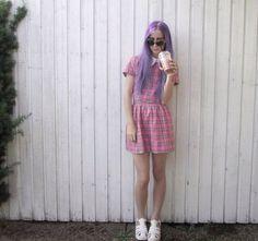 Pink plaid crop top and shorts set