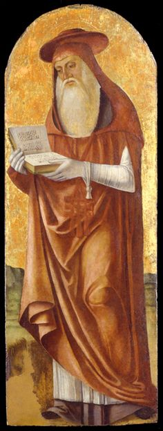 Saint Jerome // 1520-1530 // Antonio Marinoni // Museo Poldi Pezzoli // #book #reading #Vulgata #SacredScriptures #beard #Cardinal