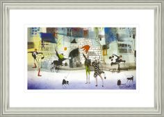 'Life On Then Street' by Sue Howells. High Quality Reproduction Framed Print finished with glass panel & expertly framed by Spires Art framing team. Size: 14in X 18in