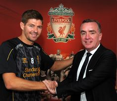 Brendan Rodgers revealed his delight at news Steven Gerrard has signed a contract extension with Liverpool and insisted: 'He's my signing of the summer. Liverpool Football Club, Liverpool Fc, Stevie G, France Football, Brendan Rodgers, Signed Contract, Premier League Champions, Steven Gerrard, Latest Pics