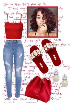 """FOREVER RED"" by alexoctavia ❤ liked on Polyvore featuring Miu Miu, WearAll, Lancaster and red"