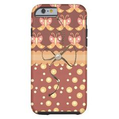 Butterflies Brown iPhone 6 Case