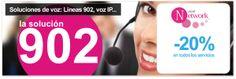 Soluciones de voz (líneas 902, voz IP y mucho más) con Network Group - 20% de descuento en todos los servicios