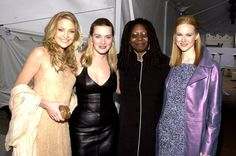 Pin for Later: Memorable SAG Awards Snaps to Get You Excited For the Show  Kate Hudson and Kate Winslet posed with Whoopi Goldberg and Laura Linney in 2001.