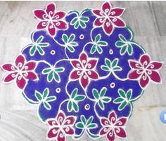 Rangoli Designs - Latest on Web - Pooja Room and Rangoli Designs Indian Rangoli Designs, Rangoli Designs Latest, Beautiful Rangoli Designs, Kolam Designs, Free Hand Rangoli Design, Pooja Rooms, Floor Art, Indian Festivals, Ganesh