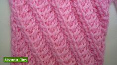 Tutorial de tejido con dos agujas # 223. Punto (puntada) LINEAS en DIAGO...