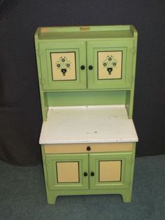 1930's Juvenile Hoosier Cabinet Miniature Childs Kitchen Cabinet | eBay