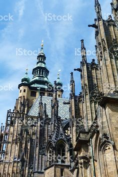 Detail of the Cathedral of Saint Vitus, Prague foto stock royalty-free