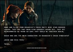 Assassins Creed Confessions arno elise jacob evie frye