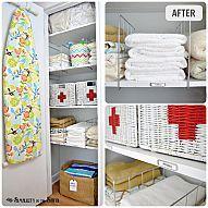 Linen Closet Organization: Before & After