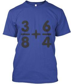 Mathematics Tees   Ltd Edition Deep Royal T-Shirt Front