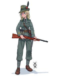 Anime Military, Girls Frontline, Girl Inspiration, Call Of Duty, Art Girl, Character Art, Concept Art, Sci Fi, Hero