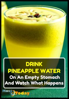 Drink Pineapple Water On An Empty Stomach And Watch What Happens to your body in just 1 week! Pineapple is very effective in eliminating accumulated fat from the body and removing harmful toxins in less time than it would take diet pills. Healthy Water, Healthy Detox, Healthy Juices, Healthy Drinks, Healthy Tips, Healthy Foods, Detox Juices, Easy Detox, Healthy Eating