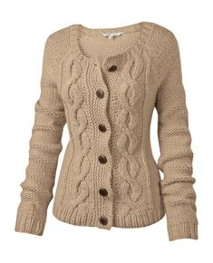 Large image of Savannah Cable Cardigan - opens in a new window Cable Knit Cardigan, Cardigan Pattern, Brown Cardigan, Knitting Designs, Knitting Patterns Free, Knitted Headband, Classic Outfits, Savannah, Knitwear