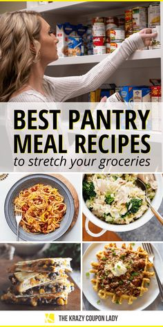 If you're like me during the pandemic, you've stared into your pantry at least once over the last few weeks and had no idea what to feed your family. Luckily, there are some pretty brillia. Lentil Recipes, Vegetarian Recipes, Cooking Recipes, Healthy Recipes, Meal Recipes, Food Storage Recipes, Easy Weeknight Meals, Easy Meals, Good Food