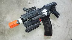 Punisher themed nerf demolisher by AlTheGeek on Etsy