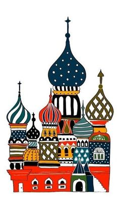 Picture of St. Basil's Cathedral in Moscow, #Russia.