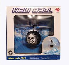 Heli Ball Skull and Crossbones Remote Control Mini Flyer RC Helicopter NEWEST VERSION  Featuring USB charging -- Read more reviews of the product by visiting the link on the image.