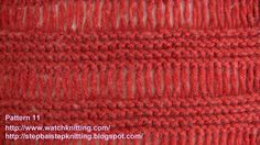 (Cage) - Simple Knitting Patterns - Free Knitting Tutorials - Watch Knit...