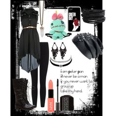"""""""Random"""" by art-of-depression on Polyvore featuring polyvore fashion style James Perse Disney Givenchy Pieces Charlotte Russe Laura Mercier NYX Essie"""