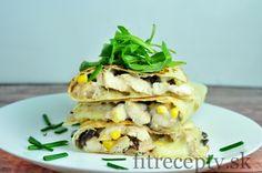 Kuracie so šampiňónmi v celozrnnej tortille - FitRecepty