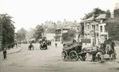 Clapham Old Town, c. 1890 Clapham Old Town, showing the horse trough in the foreground at the entrance to Grafton Square. The two buildings immediately behind were demolished when Maritime House was built in 1939.