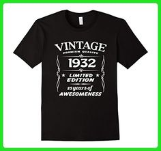 Mens Vintage 1932 85th Birthday 85 Years Old Gift T-Shirt 2XL Black - Birthday shirts (*Amazon Partner-Link)