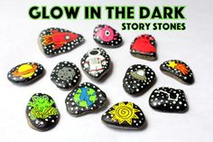 Story Stones- Outer Space | Space Adventure | Glow in the Dark | Aliens | Solar System | Stars | Kids Christmas Gift | Stocking Stuffer