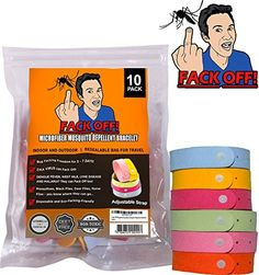Fack Off! Microfiber Mosquito Repellent Bracelet (10 Pack) >>> This is an Amazon Affiliate link. Click image to review more details.