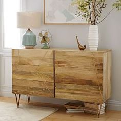 Roar + Rabbit Brass Geo-Dresser Mango/Antique Brass at West Elm - Dressers - Bedroom Furniture - Clothes Storage Boho Furniture, Home Furniture, 6 Drawer Dresser, Diy Dresser, Home Accessories, Mango Wood Furniture, Wood Furniture, Home Decor Furniture, Furniture