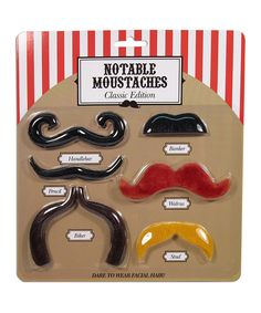 Look at this Notable Mustaches Classic Set on #zulily today!