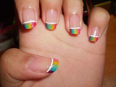 124 Best Rainbow Nails Images On Pinterest Pretty Nails Beauty