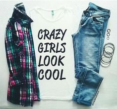 Teenage Fashion Blog: Plaid # Crazy Girls # Cool Look For Teenage !