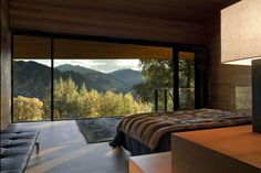 Aspen bedroom with a view [[MORE]] Uncomfortabl: Rest of the house For those who are interested the house was designed and built by Peter Marino. Interior Architecture, Interior And Exterior, Interior Design, House Goals, Dream Rooms, Luxurious Bedrooms, My Dream Home, Home And Living, Future House